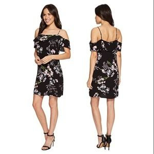 1. State Floral Print Cold Shoulder Dress